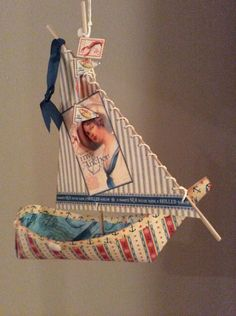 You gotta love this little By the Sea ship from Diane's workshop! So fun and beautiful! #graphic45