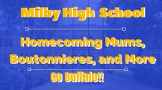 Milby High School Homecoming Mums | Football Garters, Mums for Sale in H...