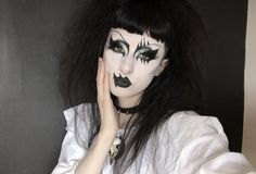 Goth Eye Makeup, Makeup Eye Looks, Gothic Makeup, Sexy Makeup, Dark Makeup, Makeup Inspo, Makeup Inspiration, Goth Subculture, Alternative Style
