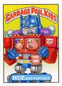 Optimus Prime Garbage Pail Kids by Luis Diaz