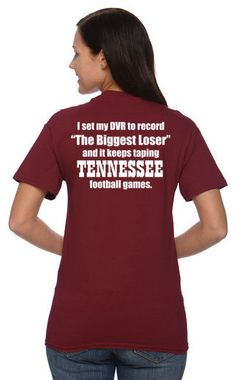 ALABAMA CRIMSON TIDE biggest loser tennessee volunteers t-shirt. roll tide! on Etsy, $16.99