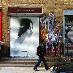 @0707art beautiful #mural at Shoreditch, London #StreetArt