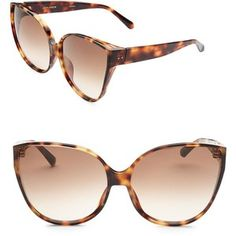 f8d8a08a7a43 Linda Farrow 656 C3 Oversize Cat Eye Sunglasses Cat Eye Sunglasses