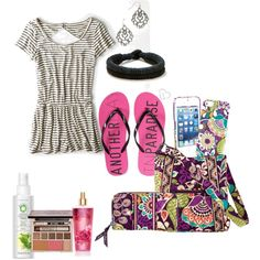 striped romper by adreyn15 on Polyvore featuring polyvore fashion style American Eagle Outfitters Aéropostale Vera Bradley Urban Decay Herbal Essences