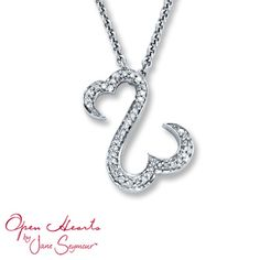 Open Hearts by Jane Seymour® Diamond Necklace