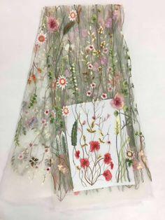 Африканский Вышивка Чистая Швейцарский Кружево, французский вуаль гипюр тюль сетка Кружево Ткань для платье партии 5yd/lot A-SL117