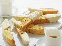 Almond and Lemon Biscotti Dipped in White Chocolate Recipe : Giada De Laurentiis : Food Network - FoodNetwork.com
