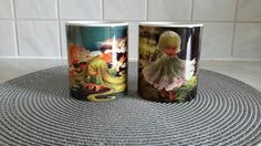 """Mugs with draws of """"Children of the Wood """" Collection by Sabrina Tanase Www. Travel Mug, Illustration Art, Digital Art, Mugs, Children, Drawings, Wood, Collection, Young Children"""