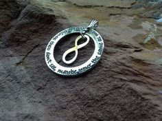 Infinity of LOVE $111 Sterling Silver personalised pendant available from Sweet Sweet Silver.