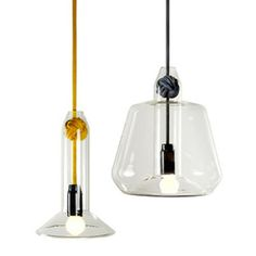 These Vitamin knot ceiling lights are so chic. #lighting