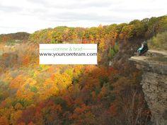 Dundas Peak (peak of the fall season) Peak And Peak, Dundas Ontario, Fall Season, Seasons, Mountains, Nature, Travel, Autumn, Viajes