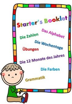 This Starter's Booklet is a perfect introduction to the German Language. It includes:a) A Learning Section where we cover the German Alphabet, the Numbers from 0 to 10, the Days of the Week, the 12 Months and the main colors.b) A Grammar Section where your students can learn the personal pronounsc) An Exercise Section where your students can practice what they've learned so fard) Of course the Answer Key to the ExercisesI hope you enjoy!