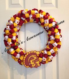 USC Trojans Ribbon Wreath