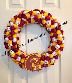 USC Trojans Ribbon Wreath