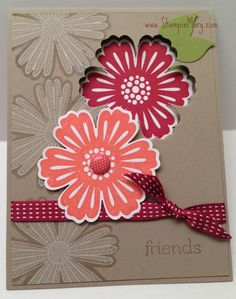 "Can't go wrong with ""Mixed Bunch Stamp set""  and the ""blossom Punch"" for a quick and easy card"