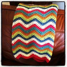 #crochet chevron blanket  from @caswelljones via Instagram #crochetconcupiscence