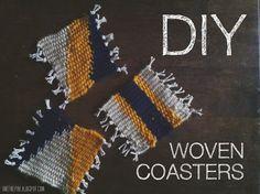 Diy woven coaster