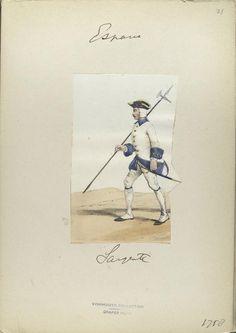 Spain, Sargento, 1758