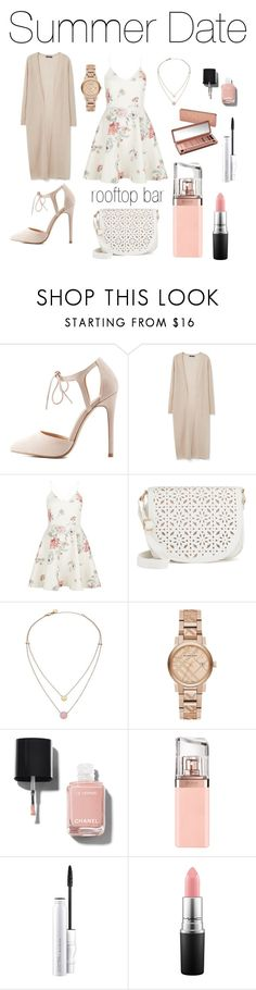 """""""Untitled #16"""" by denisegul ❤ liked on Polyvore featuring Charlotte Russe, Violeta by Mango, New Look, Under One Sky, Michael Kors, Burberry, Urban Decay, Chanel, HUGO and MAC Cosmetics"""