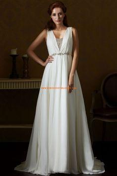 Robe de mariée empire mousseline robe pour femme enceinte