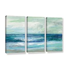 54x36  $179.99  ArtWall Silvia Vassileva's Tide, 3 Piece Gallery Wrapped Canvas Set | Overstock.com Shopping - The Best Deals on Canvas
