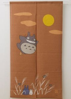 "I might need this. -- Japanese Noren Doorway Curtain Totoro Ghibli Brown 34"" x 47"" F s from Japan 