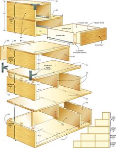 For instruction on how to build your own Kaidan Tansu, follow this link to Canadian HomeWorkshop