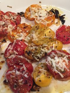 oven roasted baby tomatoes... decadent, delicious and go with everything