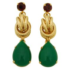 Anton Heunis Gold Knot Earrings $95.00
