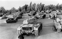 Picture released on October 1980 of Iranian artillery, tanks, arms and munitions captured by the Iraqi army during Iran / Iraq war. (Photo credit should read -/AFP/Getty Images)