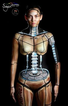 Is this the droid you were looking for ? illusion body painting by Maurice Sagot of Sagot Bodypaint in Costa Rica.
