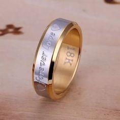 anel aliança compromisso noivado 18k par + caixinha brinde