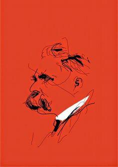 Friedrich Nietzsche, Portraits, Portrait Art, Roger Nimier, Art Plastique, Aesthetic Art, Dark Art, Graphic Illustration, Painting & Drawing