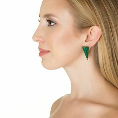 Large Recon Malachite Stud Earrings by Sarah Magid | Charm & Chain