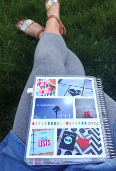 my own customized Erin Condren Life Planner // the collage cover