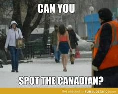 Spot the Canadian // funny pictures - funny photos - funny images - funny pics - funny quotes - Canadian Memes, Canadian Things, I Am Canadian, Canadian Humour, Canadian People, Canada Jokes, Canada Funny, Canada Eh, Bilbao