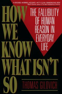 How We Know What Isn't So  by Thomas Gilovich ($11.74) - I'm off to read the book yet again. - This book is going on my list of books to read every few years so as to inoculate myself from the described fallibilities in human reasoning. - It's just the kind of book that'll make you THINK about what you're thinking. http://www.amazon.com/exec/obidos/ASIN/B001D1SS2M/hpb2-20/ASIN/B001D1SS2M