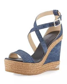 06e33f561ee Portia Denim Platform Wedge Sandal