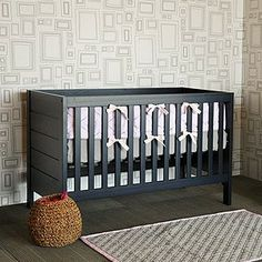 The Baby Mod Modena 3-in-1 Fixed Side Crib in Navy