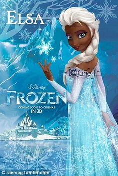 movie disney frozen fake poster of elsa. this is the character design just not the final thing. Frozen Elsa And Anna, Disney Frozen Elsa, Disney S, Black Girl Art, Art Girl, Black Art, Sibling Halloween Costumes, Halloween Halloween, Diy Costumes