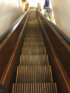 The wooden escalators make a sound like no other.