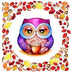 gimme coffee owl