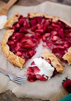 Fresh Strawberry Galette | Good Life Eats