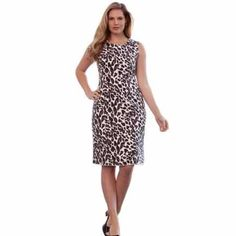Jessica London dress Very chic! Beautiful sheath dress. It has wide tank straps. Silky feeling material. 100% polyester. It drapes nicely across the waist to flatter your curves. New without tags. Jessica London Dresses
