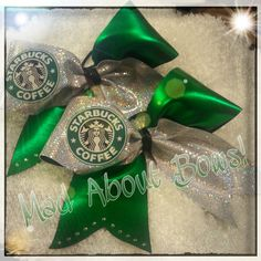 Starbucks Cheer Bows!! on Etsy #MadAboutBows1 #StarbucksCheerBow