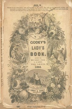 GODEY'S LADY'S BOOK ~ I have in my possession the March- November 1869 issues...they, of course, are very fragile so am extremely careful turning the pages, but love looking through them! kh