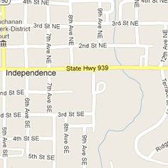 Map of #Independence #Iowa area. #UIDDA