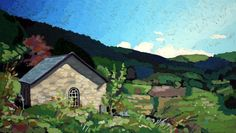 ARTFINDER: Trallwm by Andrew Francis - A chapel in the Cambrian Mountains near Abergwesyn.