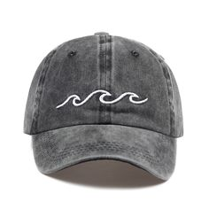 Sea wave embroidery unisex baseball cap - AbyanOnlineExpress - Re-Wilding Hat Embroidery, Embroidery Ideas, Embroidery Patches, Embroidered Hats, Sea Waves, Dad Hats, Women's Hats, Unisex Fashion, Mens Fashion