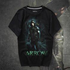 Black Arrow Mens Shirts Mavel Oliver Queen Green Arrow T-shirts